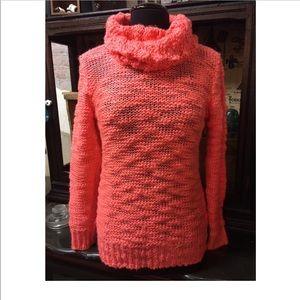 Olivia Sky Deep Peach Oversized Pullover Sweater